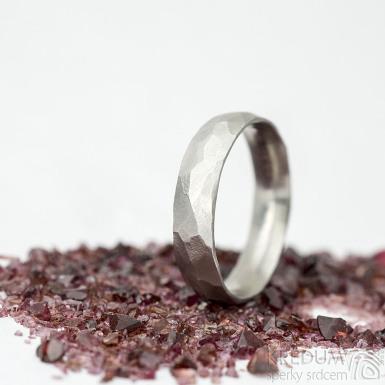 Klasik Draill matný - velikost 58 s vnitřním zaoblením, šířka 5 mm, tloušťka 1,5 mm - Kovaný prsten z nerezové oceli, SK2104 (3)