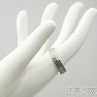 Klasik Draill matný - velikost 58 s vnitřním zaoblením, šířka 5 mm, tloušťka 1,5 mm - Kovaný prsten z nerezové oceli, SK2104 (2)