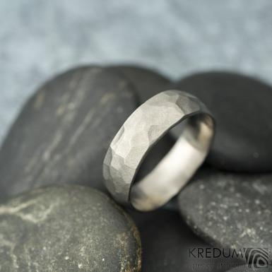 Klasik Draill titan matný - Kovaný snubní prsten