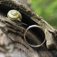 Klasik Gold W a čirý diamant 1,7 mm - velikost 55, šířka 3,5 mm, tloušťka 1,3 mm, lesk, profil B - Zlaté snubní prsteny - k 1737 (11)