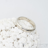 Klasik gold white - 52, šířka 3,5 mm, tloušťka 1,5 mm, profil B - Snubní prsteny z bílého zlata - sk2326 (2)
