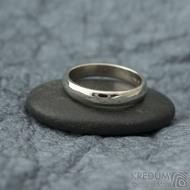 Klasik gold white - 52, šířka 3,5 mm, tloušťka 1,5 mm, profil B - Snubní prsteny z bílého zlata - sk2326