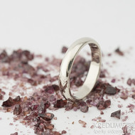Klasik gold white - 52, šířka 3,5 mm, tloušťka 1,5 mm, profil B - Snubní prsteny z bílého zlata - sk2326 (4)