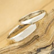 Klasik gold white lesklý - dámský 52, šířka 3 mm, profil A; pánský 62,5; šířka 4 mm - Zlaté snubní prsteny - k 1517