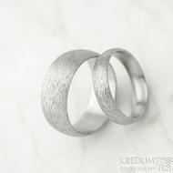 Klasik hrubý mat vel 52, š 4,5 mm, tl slabá, profil D a vel 61, š 8 mm, tl slabá, profil A - Nerezové snubní prsteny - k 1471 (2)