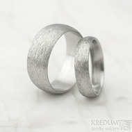 Klasik hrubý mat vel 52, š 4,5 mm, tl slabá, profil D a vel 61, š 8 mm, tl slabá, profil A - Nerezové snubní prsteny - k 1471 (4)
