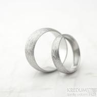 Klasik hrubý mat vel 52, š 4,5 mm, tl slabá, profil D a vel 61, š 8 mm, tl slabá, profil A - Nerezové snubní prsteny - k 1471 (3)