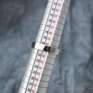 Klasik lesklý - Kovaný nerezový snubní prsten - velikost 61 CF, šířka 4,5 mm, tloušťka 1,5 mm, profil F - SK1668 (4)