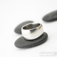 Klasik lesklý pro kámen - velikost 54, šířka 9,9 mm, tloušťka 2 mm hlava 2,9 mm, profil B - Nerezové snubní prsteny - sk1333 (3)