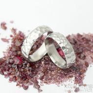 Klasik Marro - lesklý - velikosti 57 a 61, šířka 6 mm, vnitřní zaoblení - nerezové snubní prsteny - k 1708 (2)