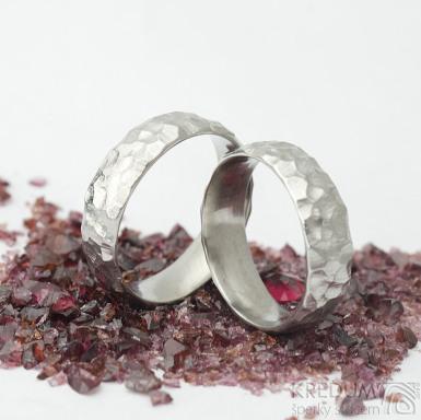 Klasik Marro - lesklý - velikosti 57 a 61, šířka 6 mm, vnitřní zaoblení - nerezové snubní prsteny - k 1708 (4)