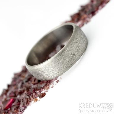 Klasik titan line - hrubý mat - Kovaný a broušený titanový snubní prsten - velikost 64, šířka 7 mm