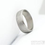 Klasik titan line - hrubý mat - Kovaný a broušený titanový snubní prsten - profil B, velikost 64, šířka 7 mm