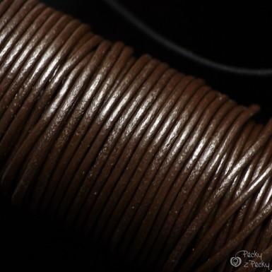 Kožená šňůrka pro zavěšení šperku kulatá - hnědá