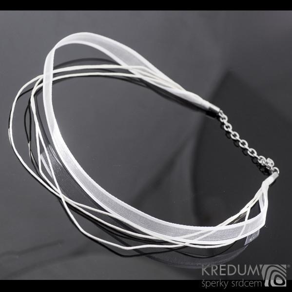 Kombinovaná textilní šňůrka KREDUM - bílá