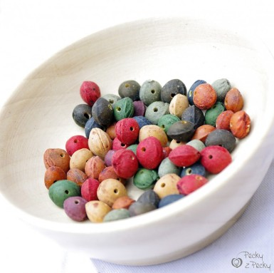 Peckové korálky - barevné