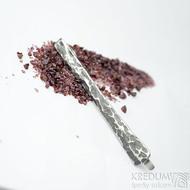 Kovaná spona na kravatu nerezová - Draill - zatmavená, produkt SK1910 (2)