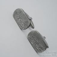 Kované manžetové knoflíčky damasteel - Ovidius zatmavené - k 2334