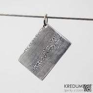 Kovové dřevo - přívěsek z oceli damasteel, SK1196