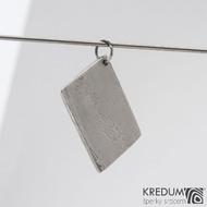 Kovové dřevo - přívěsek z oceli damasteel sk1197 (3)
