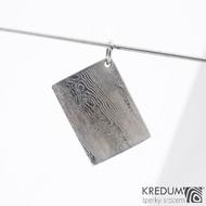 Kovové dřevo - přívěsek z oceli damasteel sk1197 (4)