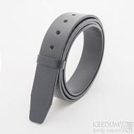 Kožený pásek 4X 135 cm - barva černá (2)