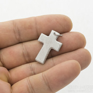 Křížek damasteel - dřevo - světlý s očkem