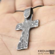 Křížek kovaný tmavý - nerezová ocel,  fl 3455946