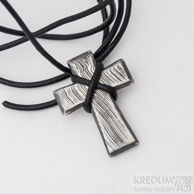 Křížek, nerezová ocel damasteel - produkt SK2719