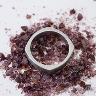 Kulatýčtvereček - 53, šířka 5,2 mm, matný - Kovaný nerezový snubní prsten, SK2458 (4)