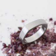 Kulatýčtvereček - 53, šířka 5,2 mm, matný - Kovaný nerezový snubní prsten, SK2458 (5)