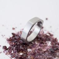 Kulatýčtvereček - 53, šířka 5,2 mm, matný - Kovaný nerezový snubní prsten, SK2458 (6)