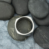 Kumali nerez  - 65, šířka 10,8 mm, tloušťka 1,8mm, matný - Kovaný nerezový snubní prsten, SK1288 (2)