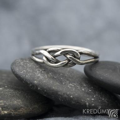 Kuplung Silver Patina - Stříbrný prsten, SK1573
