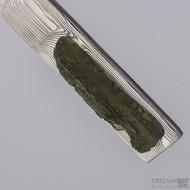 Laja - Kovaný damasteel přívěsek s vltavínem