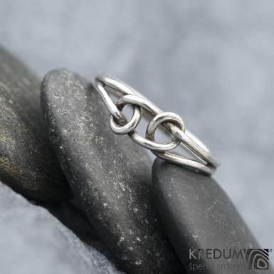 Loop Silver Patina - Stříbrný prsten, SK1568