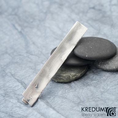 LOPER - Kovaná damasteel spona na kravatu, S1321