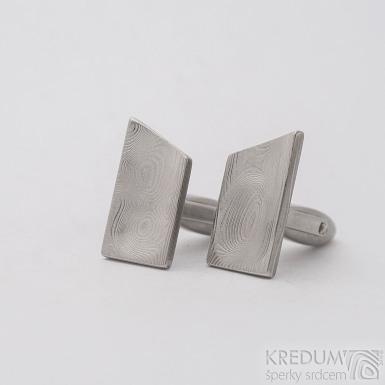 Loper - Manžetové knoflíčky damasteel - dřevo, SK2731
