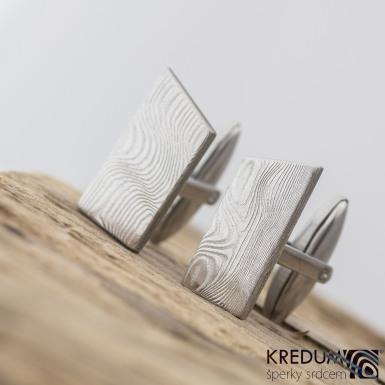 DESK - Kované manžetové knoflíčky damasteel - produkt č. 2204