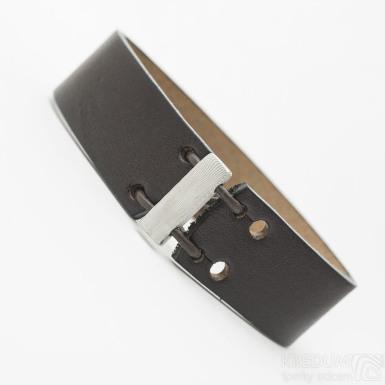 Manus 20 Damast S hnědý - struktura dřevo - Kožený náramek, produkt SK3260