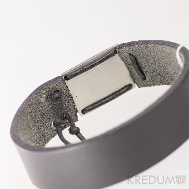 Manus 20 Steel XL - hnědý - kožený náramek