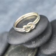 Marge duo - snubní prsteny žluté a bílé zlato -  velikost 58 síla drátku 1,5 mm - K 1388 (3)