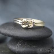 Marge duo - snubní prsteny žluté a bílé zlato -  velikost 58 síla drátku 1,5 mm - K 1388