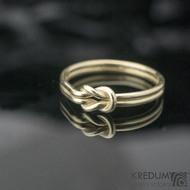 Marge Yellow - Zlatý snubní prsten, SK1293