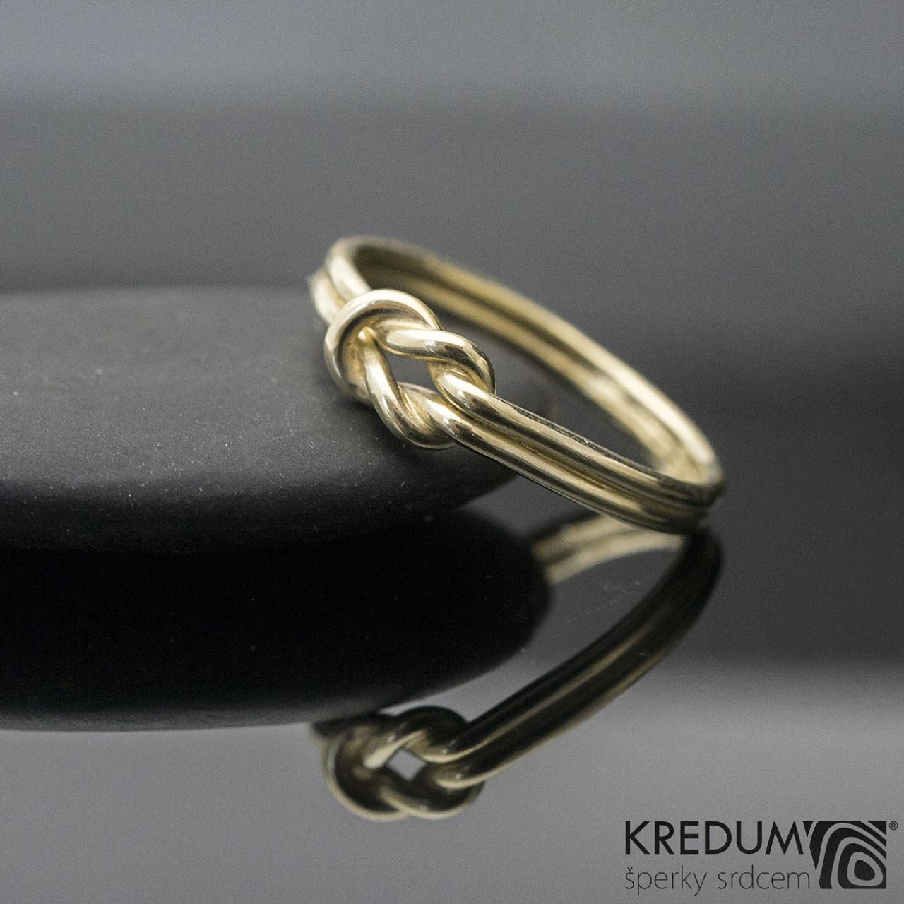 Marge Yellow Zlaty Snubni Prsten Sk1293 Vyroba Hand Made Snubni