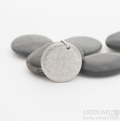 Mikilion - Kovaný přívěsek damasteel, SK2530 (2)