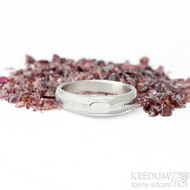 miniAlane pro kámen - vel 52,5, šířka hlavy 4,3 mm dlaň 3 mm, tloušťka hlavy 2,8 mm dlaň 1,4 mm - Damasteel prsteny - sk1651 (2)