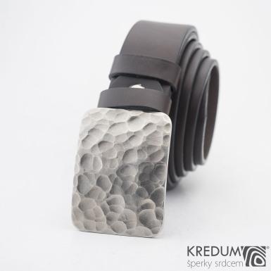 Mistr 3,5X - Draill matný pásek - Kovaná nerez spona a kožený pásek, S2067
