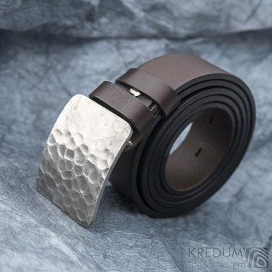 Mistr 3,5X - Draill světlý - Kovaná nerez spona a kožený pásek, SK1654 (5)