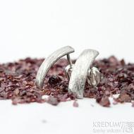 Moon voda - Kované damasteel náušnice, SK1806 (2)